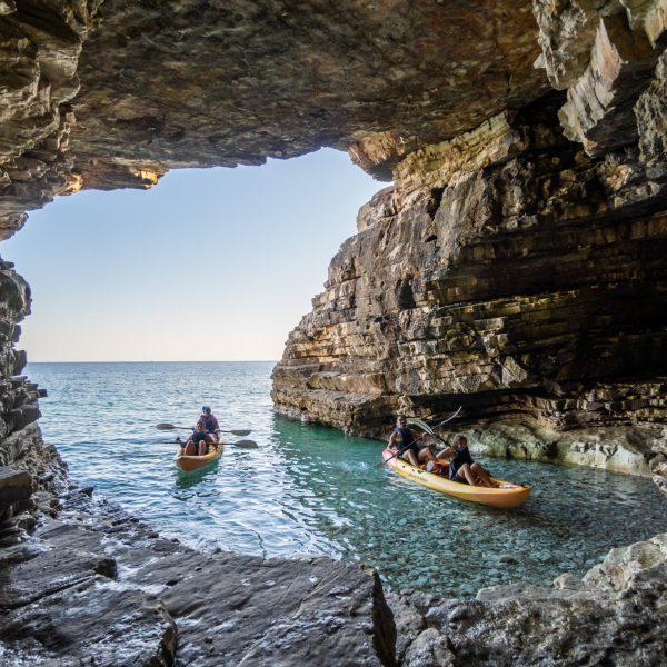 Kayaking in the Medulin archipelago